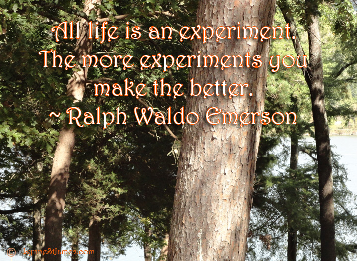 ralph waldo emerson, emerson, life, experiment, monday quotes, monday, quotes, lynne st. james