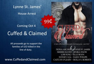 Cuffed & Claimed, house arrest, lynne st. james, beyond valor, willow haven, romantic suspense, action & adventure, small town romance, contemporary romance, military romance