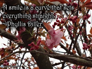 monday quotes, phyllis diller, smiles, happiness, smile, new, quotes, april, 4-17-2014, lynne st. james
