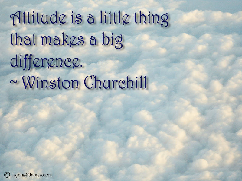 winston churchill, happiness, thanks, attitude, lynne st. james