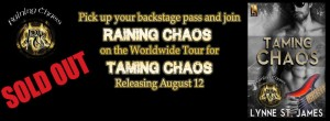 Taming Chaos, Raining Chaos, release, tour, rock band, rocker books, romance, erotic, JK Publishing, lynne st. james