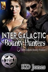 inter-galactic bounty hunters, cover, book, kd jones, sci-fi, romance, sci-fi romance, jk publishing