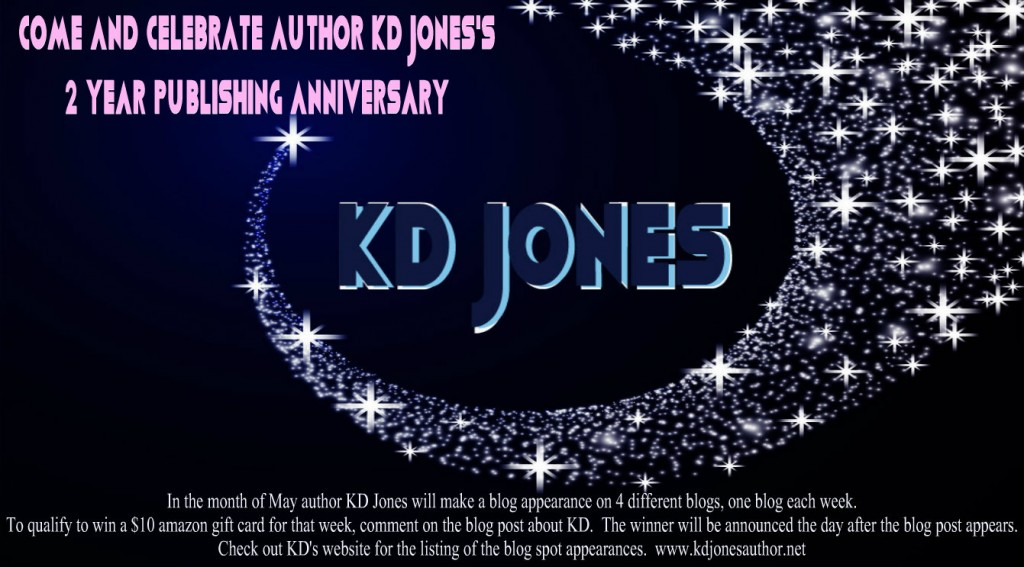 KD jones, author, 2 year anniversary, anniversary, writer, author, scifi