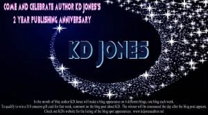 KD jones, author, 2 year anniversary, anniversary, writer, author, scifi