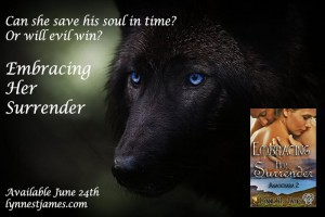 embracing her surrender, anamchara, lynne st. james, fantasy, shifters, werewolves. angels, magic, fae