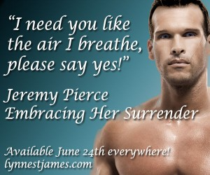 embracing her surrender, jeremy pierce, lynne st. james, fantasy, erotic romance, paranormal romance, fantasy romance, romance, love, eternal