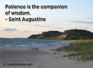 monday quotes, inspiration, saint augustine, lynne st. james, lake michigan, beauty, patience, wisdom