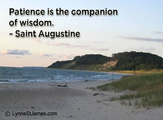 monday quotes, inspiration, saint augustine, lynne st. james, lake michigan, beauty, patience, wisdom
