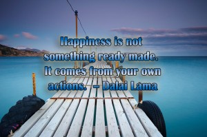 dalai lama, happiness, actions, just do it, be happy, smile, share the joy, lynne st. james