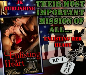 enlisting her heart, breaking protocol, willow brooke, jk publishing