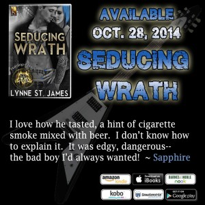seducing wrath, raining chaos, taming chaos, jk publishing, lynne st. james, rocker romance, new adult, new age, women, romance, erotic, rockstars