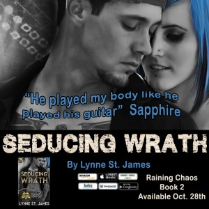 seducing wrath, jk publishing, raining chaos, series, rockerstars, rocker romance, new adult, lynne st. james, taming chaos