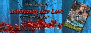 embracing her love, anamchara, paranormal romance, menage romance, erotic, menage, tiger shifters, wolf shifters, faeries, angles, magic, lynne st. james, new release