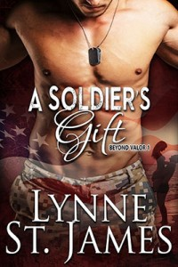 a soldier's gift, beyond valor, soldiers gift, lynne st. james, military romance, wounded warrior, second chance at love