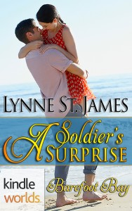 A Soldier's Surprise, Beyond Valor, Kindle Worlds, Barefoot Bay, Beach, military romance, romance, love, anniversary, baby, lynne st. james
